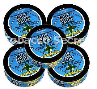 Mint Snuff Tobacco Free Chew Wintergreen, 5 Cans