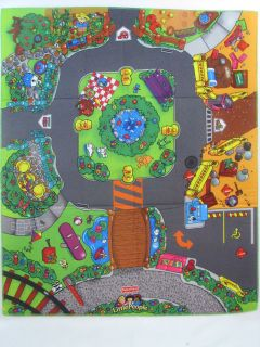 Price Little People Discovery City Town PLAY MAT ~ Soft Fabric Road