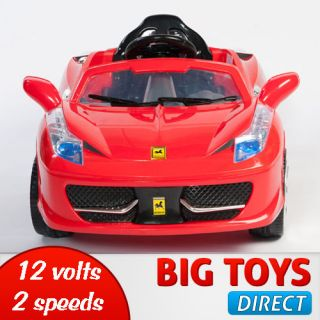 Italia Style Kids 12V Electric Power Wheel Ride On Car  RC Remote
