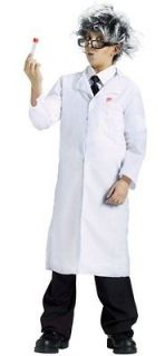 White Child Size Lab Doctor Coat Boys Dr. Costume Mad Scientist Girls