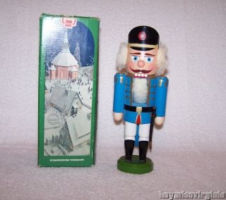 Newly listed German EXPERTIC ERZGEBIRGE Wood BLUE SOLDIER Nutcracker