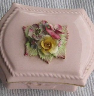 Gorgeous Pink Radnor Bone China Trinket Box, made in England