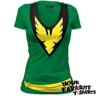 Phoenix Jean Grey Costume X MEN Officially Licensed Junior V Neck