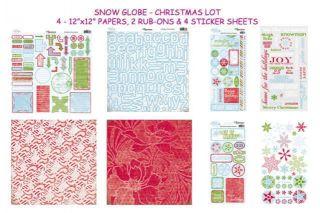 Reminisce SNOW GLOBE CHRISTMAS 12x12 Kit Scrapbooking