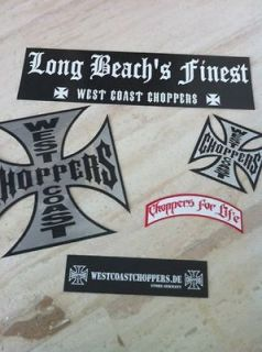 West Coast Choppers Jesse James WCC CFL rare Sticker Set
