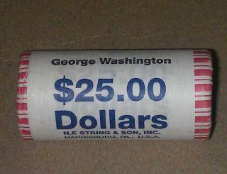 George Washington Presidential Gold Coin $25 Dollar Roll Uncirculated