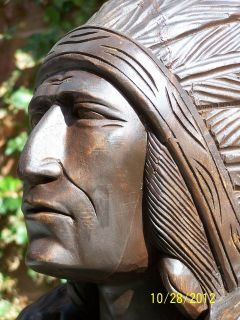 ft Cigar Store Indian Hand Carved Wood #72s1028 Chief Scout not