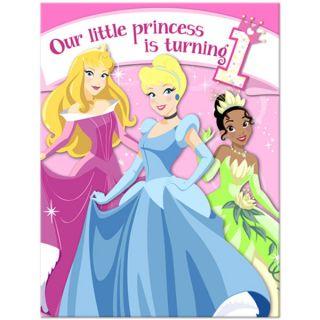 Disney Princess 1st Birthday Party Invitations 8ct NEW