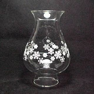 Snowflakes Hurricane Lamp Shade Globe Chimney for Candle Holder 2.5 in