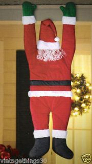 life size~ Hanging On SANTA by Gemmy~ Funny Christmas Yard Decor
