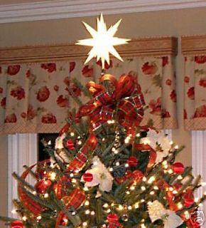NEW LIGHTED MORAVIAN STAR CHRISTMAS TREE TOPPER  12