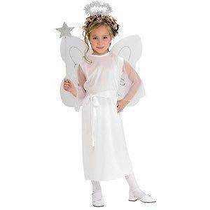 New Girls White Angel Christmas Play Halloween Child Costume Dress