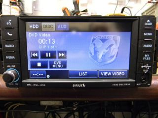 CHRYSLER DODGE JEEP MYGIG DVD Hardrive Sirius RADIO P0506959AF LOW