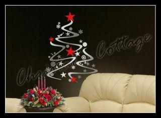 Christmas Tree Shopwindow Show Window Wall Art Decoration Sticker