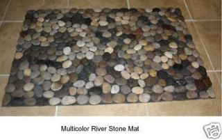 River Stone Bath Mat Pebble Rug