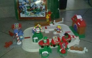 Fisher Price Little People Christmas Train Set 2005 Box Mattel EUC