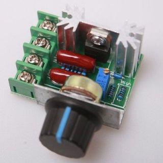 AC 12 40V 2000W 50 60Hz SCR Motor Speed Control Controller w/ Knob