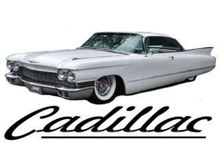 CADILLAC T SHIRT 1960 COUPE DEVILLE CADDY SHIRT WHITE CADDI CLASSIC