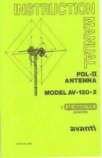 Avanti PDL II AV 120 / 122, 2 Moonraker IV AV 140, 4 Astro Beam AV 150