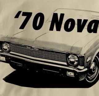 Chevy Nova 1970 Classic TAN Chevrolet Car Au T Shirt XL