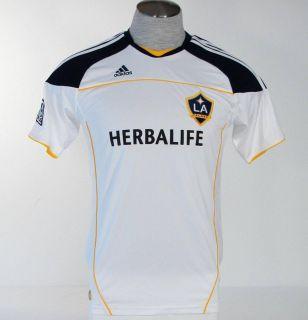 Adidas ClimaLite LA Galaxy Short Sleeve White Soccer Football Jersey