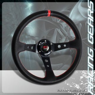 Drifting/Racin​g Black PVC Leather Steering Wheel Integra RSX Legend