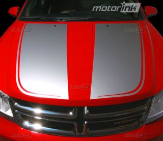 Dodge AVENGER Hood Decal Graphics Center Stripes 3M 2008 2012 08 12
