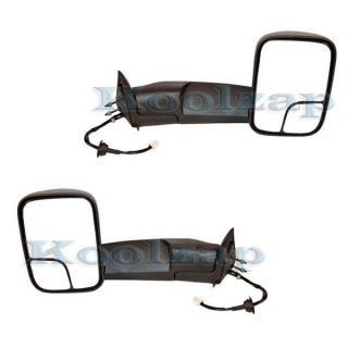 98 02 Dodge Ram Pickup Truck Power Heated Towing Folding Mirrors Pair