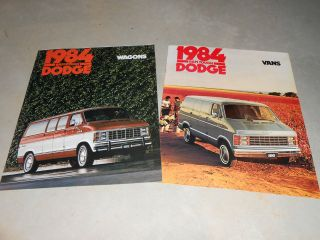 for 1 1984 DODGE RAM VAN & WAGON HUGE PRESTIGE BROCHURE, SALES