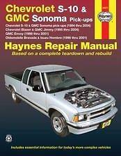 94 04 Chevy S10 Blazer Jimmy Bravada Shop Service Repair Manual book