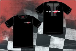 Dodge Challenger Stripes Black Red Cotton T Shirt