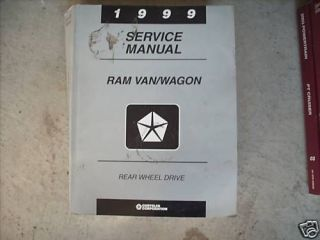 1999 Dodge Ram Van Wagon Service Repair Shop Manual Oem