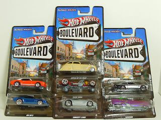 Newly listed 2012 HOT WHEELS BOULEVARD NEW COMPLETE CASE F LOT OF 7
