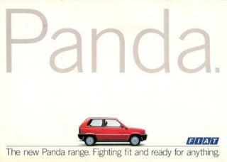 Fiat Panda 1986 87 UK Market Launch Brochure 750 L 1000 CL Super 4x4