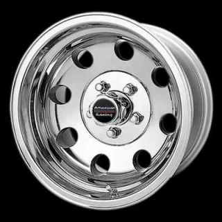 15 inch 15x8 Polished Baja Wheels Chevy GMC Truck Astro 5 Lug Rims 5x5