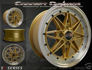 Newly listed 15 EVOKE™ C16 WHEELS RIMS ALLOY 4 LUG GOLD PCD 4X100