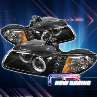 96 00 Dodge Caravan Halo Projector Headlights   BLACK (Fits Dodge