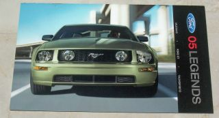Ford 2005 Legends Dealership Sales Brochure for Mustang, Ford GT