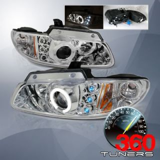 96 00 Dodge Caravan Halo Projector Headlights   Chrome (Fits Dodge