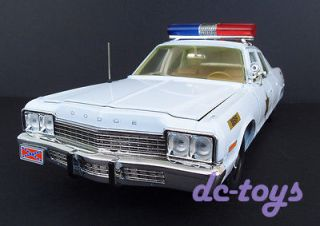 Dukes of Hazzard General Lee Dodge Monaco Rosco Patrol Police Car 1:18