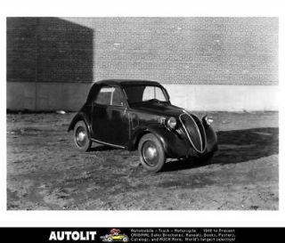 1946 Fiat Model 500 Topolino Factory Photo