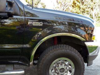 99 07 Ford F250 Chrome Fender Trim Wheel Moldings Set
