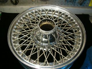 JAGUAR E TYPE, XK E, CHROMED WIRE WHEEL, 15 X 5J