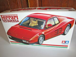 Tamiya Models 1/24 scale Ferrari Testarossa Sports Car Kit