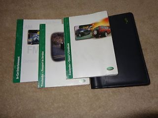 2002 Land Rover Freelander Owners Manual Owners