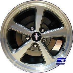 03 04 Ford Mustang GT 17 x 8 Factory 5 Spoke Machined Charcoal Wheel