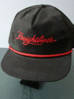 Freightliner Trucks black twill with red trim ball cap hat