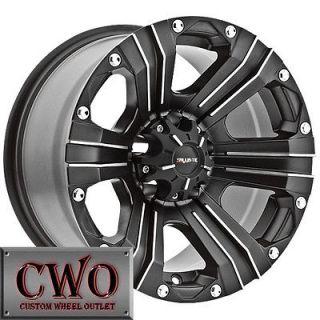 18 Black Ballistic Outlaw Wheels Rims 5x114.3 5 Lug Jeep Wrangler Ford