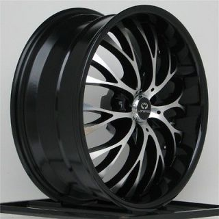 Rims Black Ford Mustang Nissan 350 Z G35 Coupe 5 x 4.5 Staggered