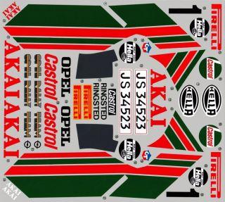 RC OPEL ASCONA 400R LANCIA PORSCHE 959 WHITE CLEAR decal vinyl sticker